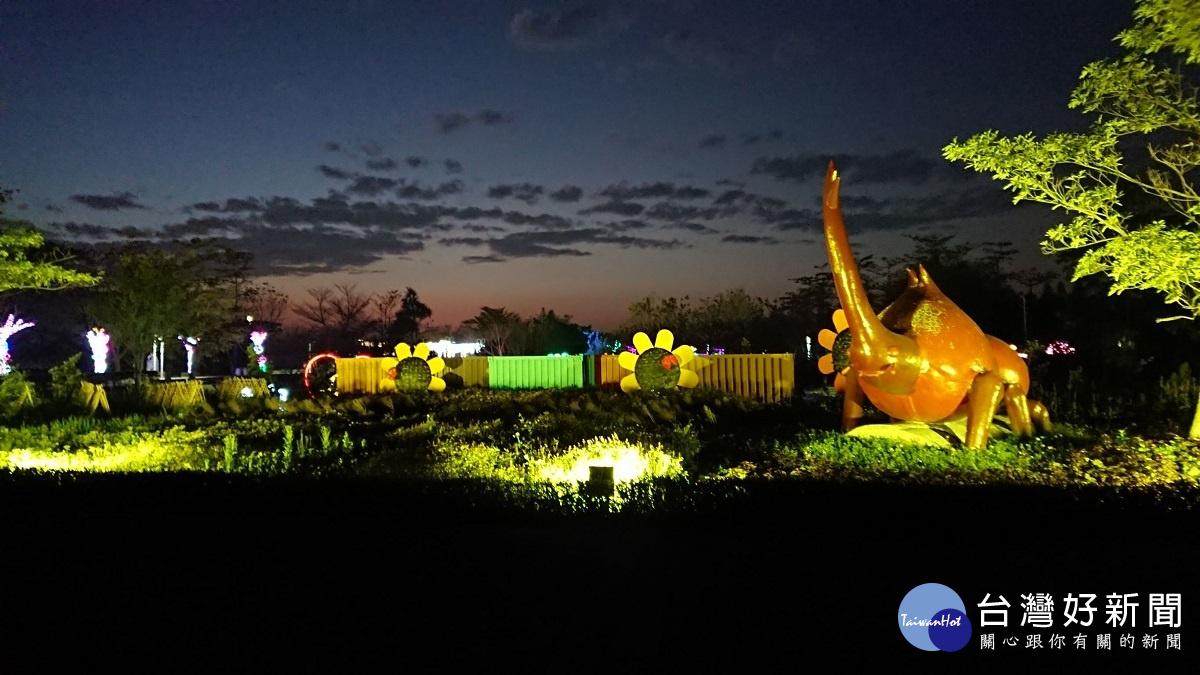 「花在彰化」活動打造藝術亮點 溪洲夜間燈會2/7試燈