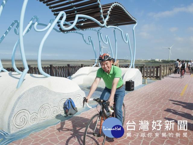 中市旅遊新亮點 大安濱海堤頂自行車道完工