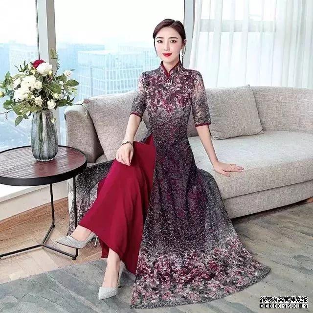中國風時尚旗袍,奢華復古