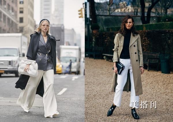 白色褲裝穿搭有着獨特的魅力