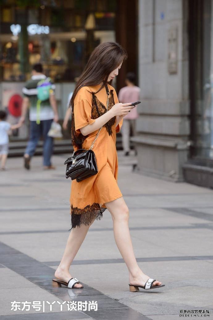 美女街拍, 穿搭實在是好幫手